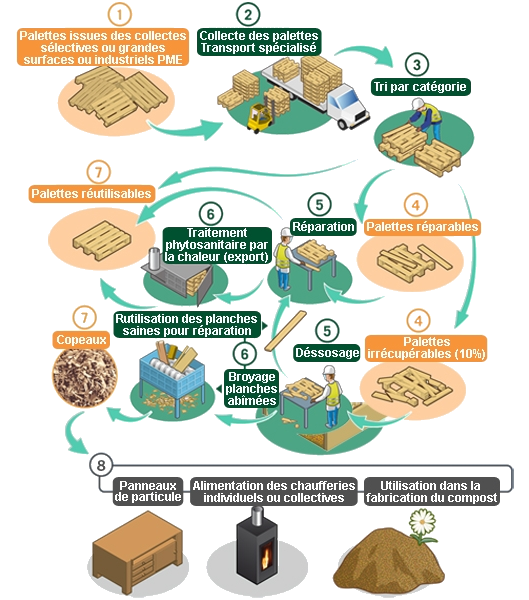 processus et système récyclage palette europe