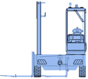 chariot latéral vue de profil