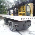 utilisation d'un chariot latéral dans l'industrie du béton