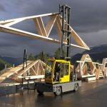 utilisation d'un chariot latéral dans l'industrie du bois