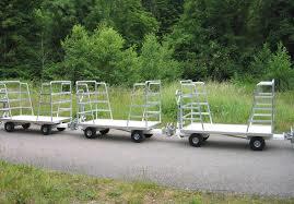 remorque ridelle - transport bagages (secteur aerien)