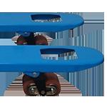 modèle de galet double transpalette manuel
